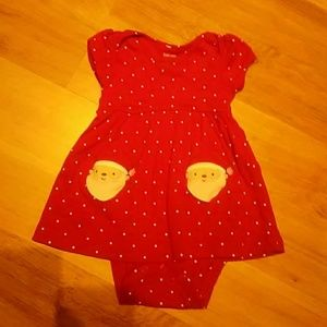Carter's One Pieces - Girls Santa onsie size 9 months